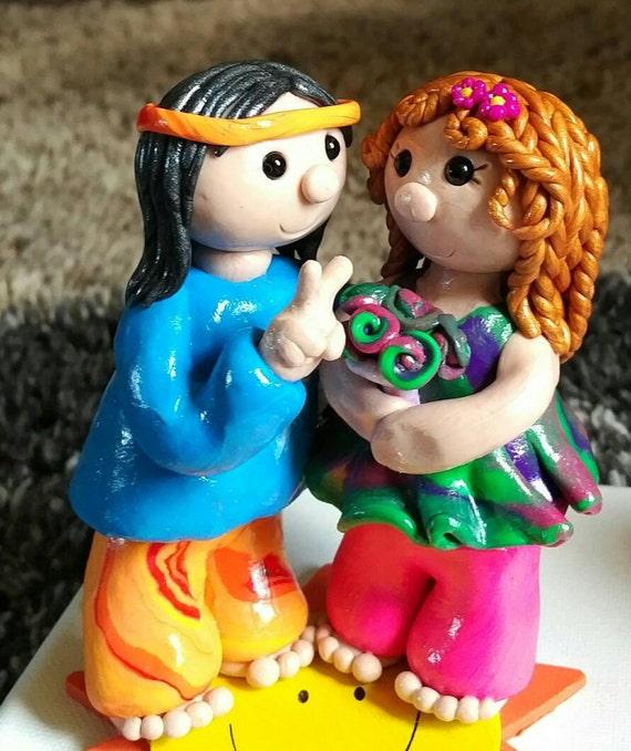 Hippie Cake Topper