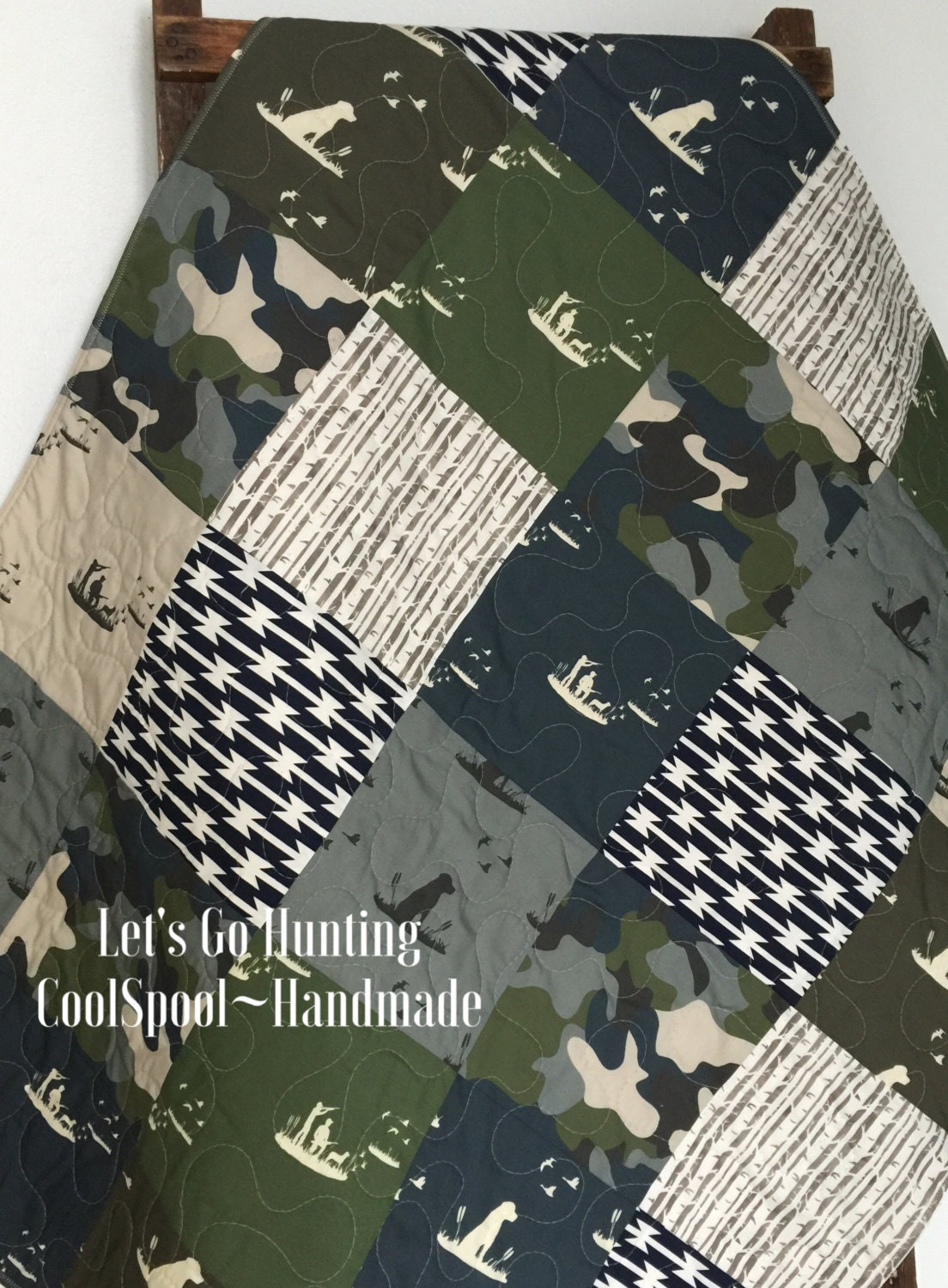 Baby Quilt Boy Crib Bedding Duck Hunting Baby Bedding By