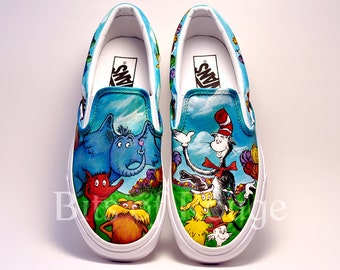 Custom Hand Painted Shoes- Dr. Seuss