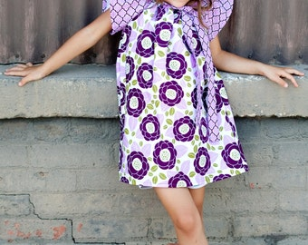 Girls Custom Peasant Dress- Custom Boutique Dress- Peasant Dress- Size 6, 7/8, 10, and 12 yr- The Dotted Duck