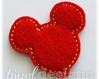 "Mouse Ears Balloon Feltie Digital Design File - 1.75"""