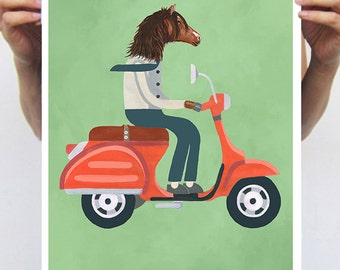 Horse Art, Horse decor, Horse Poster, Horse Print, Digital Horse Art,  Original Illustration, Horse Wall Hanging, Horse Wall Decor