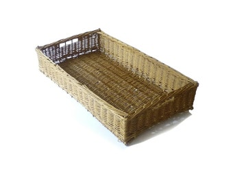 Vintage Wicker Basket Home Decor Basketry French Country Decor 72 cm