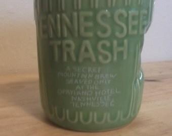 Souvenir Green Trash Can Tennessee Trash Opryland Hotel Brew