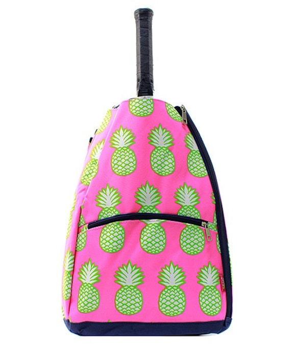 Ladies Monogrammed Tennis Racket Bag Pink by DoubleBMonograms