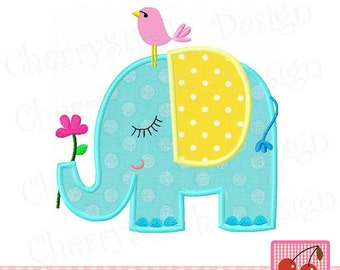 """Embroidery design  Elephant Baby animal embroidery applique AN0018 -4x4 5x5 6x6"""""""