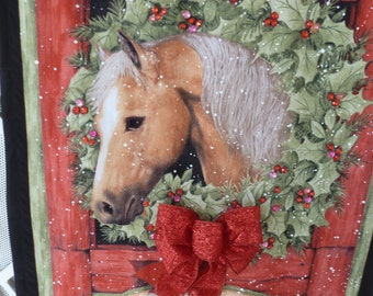 A CHRISTMAS HORSE WALLHANGING