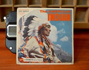 View-Master The American Indian Complete Set of 3 Reels with Booklet - Packet B725