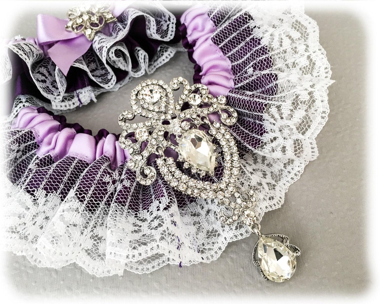 Purple Garter Set Cadbury Purple Bridal Garter Set Lace