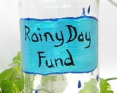 Large Rainy Day Fund Change Jar Money Jar Tip Jar Upcycled Recycled Jar