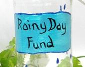 Large Rainy Day Fund Change Jar Money Jar Tip Jar Upcycled Recycled Jar