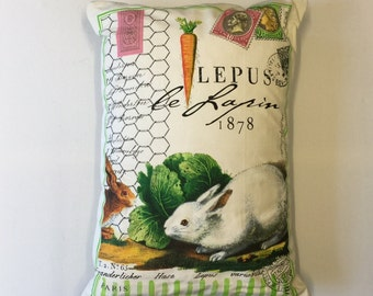 Le Lapin, The Rabbit - Throw Pillow