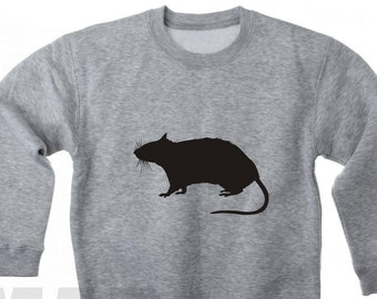 Velour Iron On Applique  RAT