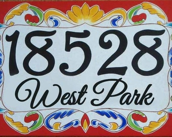 House numbers, house number plaque, house number sign, hand painted Italian house numbers, ceramic house numbers, housewarming gifts, signs