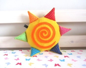 Baby Toy: Happy Sunshine Rattle Plush Toy with Squeaker
