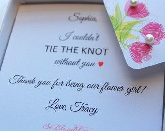 Flower girl earrings, Genuine Pearl stud earrings, flower girl gift, Tiny pearl earrings, thank you gift for flower girl