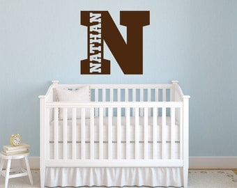 Boys Name Decal   Name Wall Decal   Sports Name Decal   Wall Decal Nursery