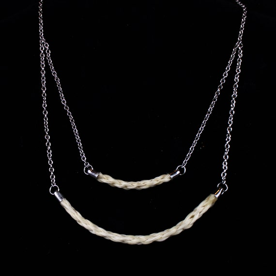 Items similar to Multi Layer Horse Hair Necklace on Etsy
