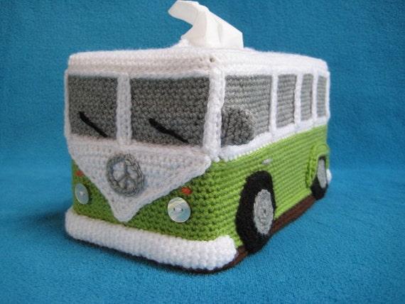 Schoudertas Volkswagen : Haakpatroon tissuebox hoes vw volkswagen bus t hippiebus