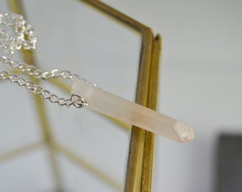 Raw quartz peak necklace - necklace AB quartz - quartz necklace will - stone necklace - necklace end - short necklace - titanium quartz