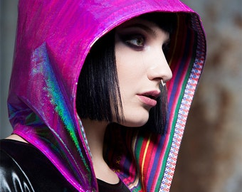 Reversible Holographic Hood in Iridescent Pink by Get Crooked
