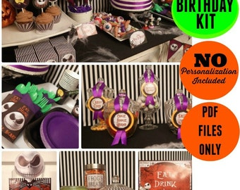 Nightmare Before Christmas Birthday Kit | INSTANT DOWNLOAD | Nightmare Before Christmas Birthday Printable | Party | Epic Parties by REVO