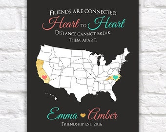 Best Friend Gift, Personalized Gift for a Friend, Special Friendship, Bridesmaids, Maid of Honor Wedding Day Gold, Coral, Aqua | WF319