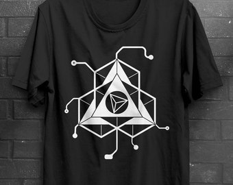 TriWork - Minimal Techno House Electronic Music - Triangle T-Shirt design Black