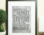 Future Even Better Than Imagined || inspirational print, typography art, industrial print, motivational print, grey decor, gray decor