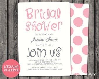 Bridal Shower Doodle Invitation Digital Download