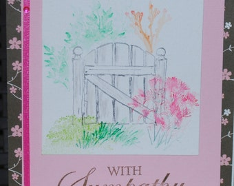 Water Color designed hand made cards to your specifications
