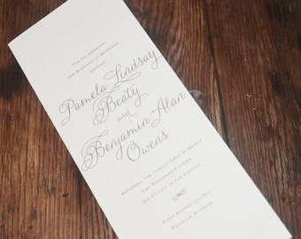 Gold Folded Wedding Program
