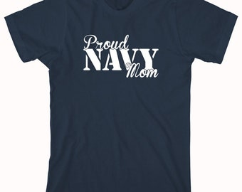 Proud Navy Mom Shirt, seabee, gift idea for mom, mother's day, soldier - ID: 466