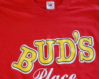 90s Bud's Place If You Don't Like it Don't Eat it Funny Vintage T Shirt XL
