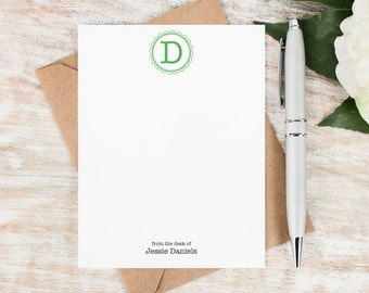 Personalized Notecard Set / Monogram Personalized Stationery / Monogrammed Stationary / Personalized Note Card Set // TYPEWRITER MONOGRAM