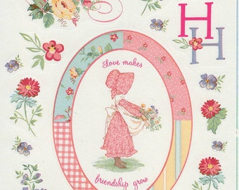 Holly Hobbie Stickers TCFC Stickety-Doo-Da 2004, American Greetings, blue, pink, calico