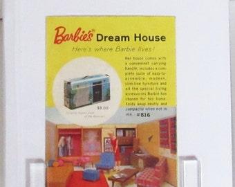"Barbie Dream House Ad, 3 3/4"" x 2 3/4"""