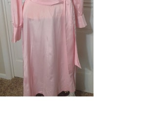 Light pink vintage handmade day dress with matching belt