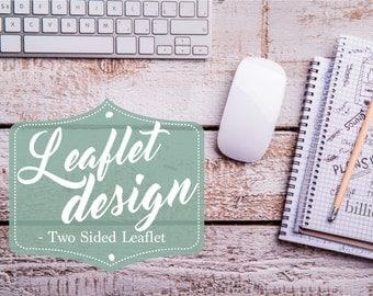 Leaflet Design, Graphic Design, Company Leaflet, Brochure design, Custom Leaflet Design, Marketing Materials, Business Postcard Design