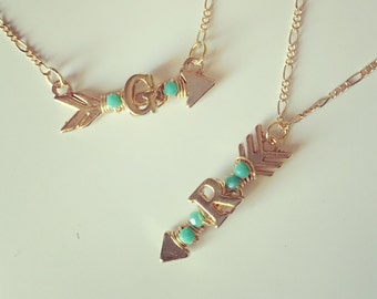 NEW! Initial Arrow Necklace