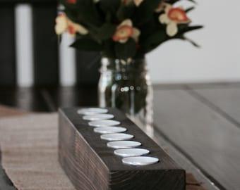 Rustic Wooden Tea Light Holder