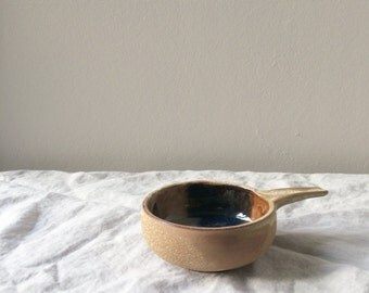 Vintage Stoneware Bowl with Handle