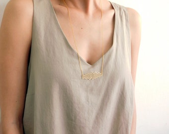Rectangles Necklace, Gold Necklace, Geometric Necklace, Geometric Jewelry, Minimalist Jewelry