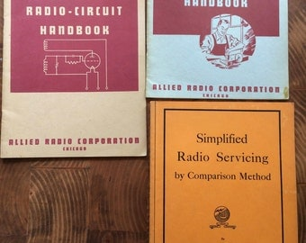 RESERVED for MW: Tube Radio How To Manuals, 1950s Set of 3