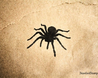 Walking Spider Rubber Stamp - 2 x 2 inches