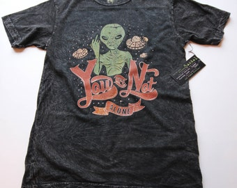 Alien - Alien Shirt - Alien Tee - Alien T-shirt - Alien T Shirt - Alien T-shirt - Alien head shirt - Middle Finger - Not Alone-Middle Finger