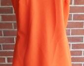 Vintage Sleeveless Orange...
