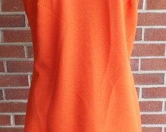Vintage Sleeveless Orange Dress by La Belle Fashions INC