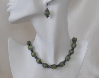 Australian Crystal Necklace & Earrings
