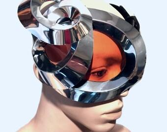 Organic goggles with horns futuristic, sci fi, cyber eyewear, mask, goggles,alien mask
